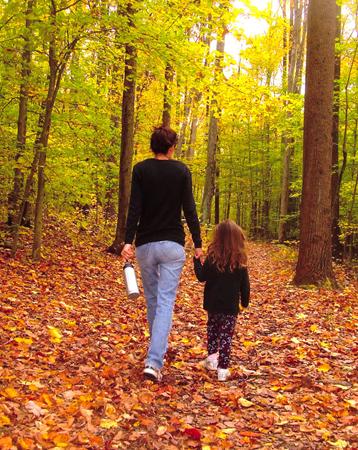 Plimbare in padure cu copilul